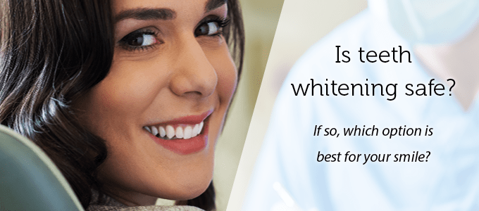 Banner asking Is teeth whitening safe?
